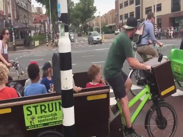 Školní cyklobusy v Holandsku