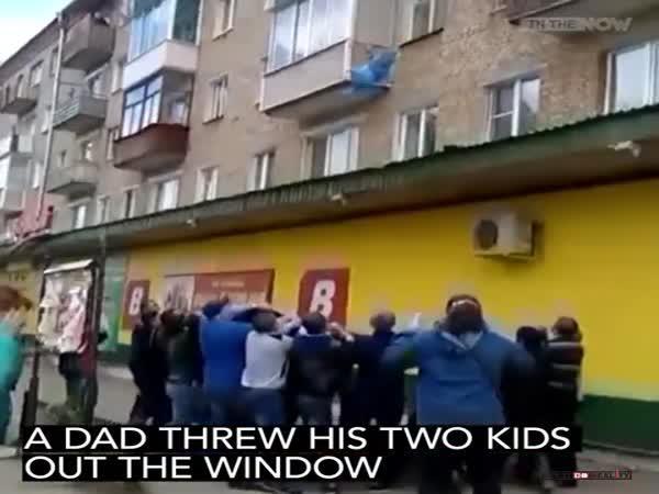 Hořící byt v Rusku