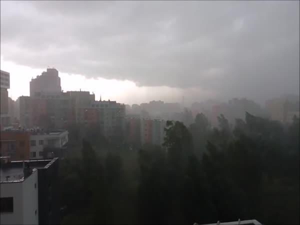 Polsko – Silná bouřka