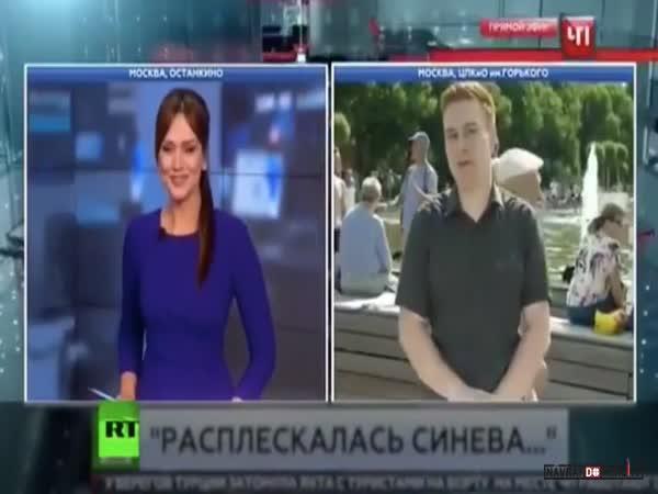 Napadený ruský reportér