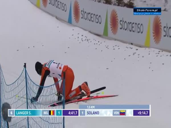 Adrian Solano na lyžích