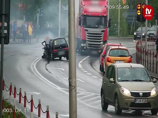 Dopravní nehoda kamionu #557
