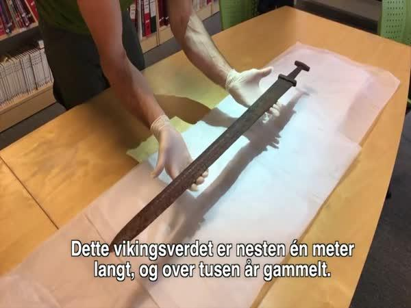 1000 let starý vikingský meč