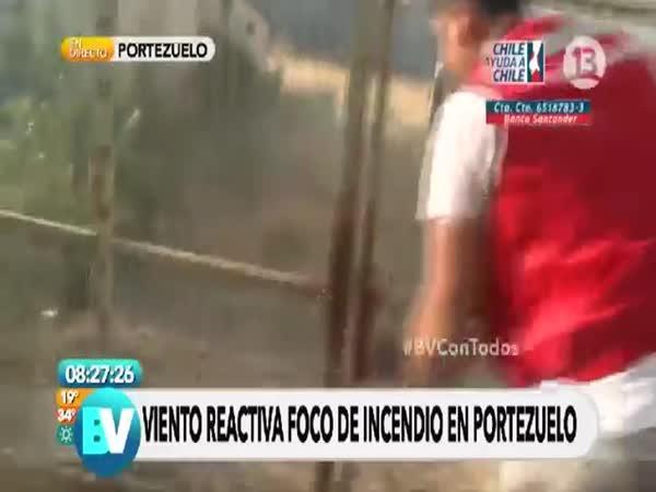 Pomoc hasičům v Chile