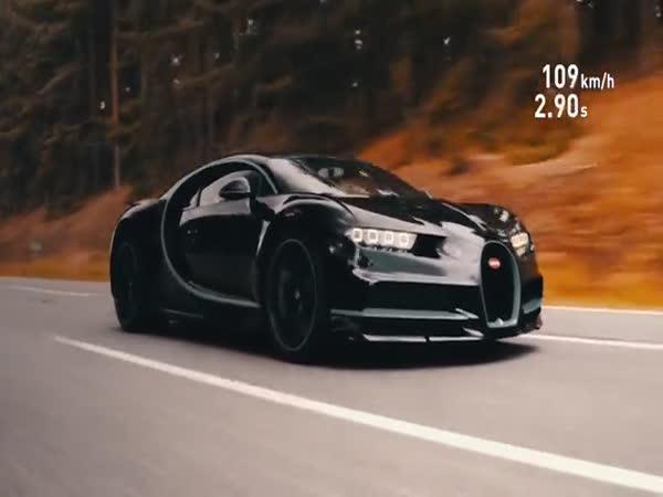Zrychlení Bugatti Chiron z 0 na 400 km/h
