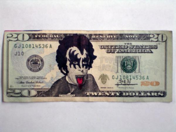GALERIE - Vtipně pokreslené peníze 2