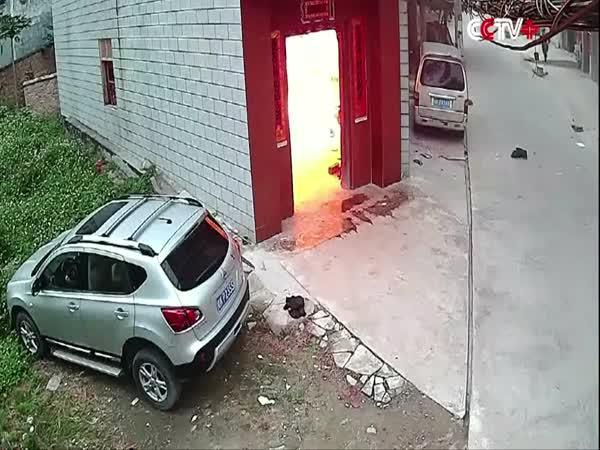 Výbuch plynu v Číně