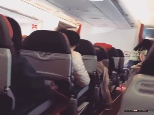 Rozstřesená paluba letadla