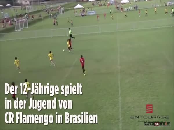 Malý fotbalový talent v Brazílii