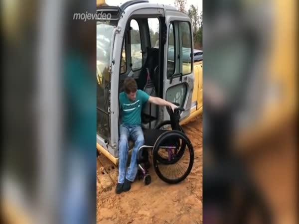 Bagrista vozíčkář