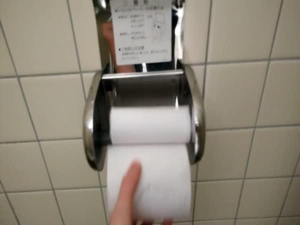 Japonsko: Výměna toaletního papíru
