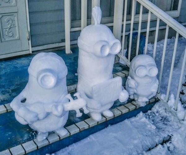 GALERIE - Sněhuláci v Japonsku