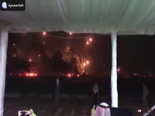 Ohňostroj arabské armády