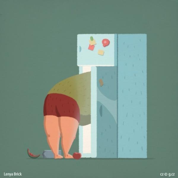 GALERIE - Ilustrace věcí, jež dělá každý chlap