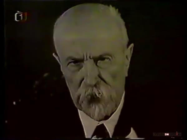 T. G. Masaryk přeje k Vánocům