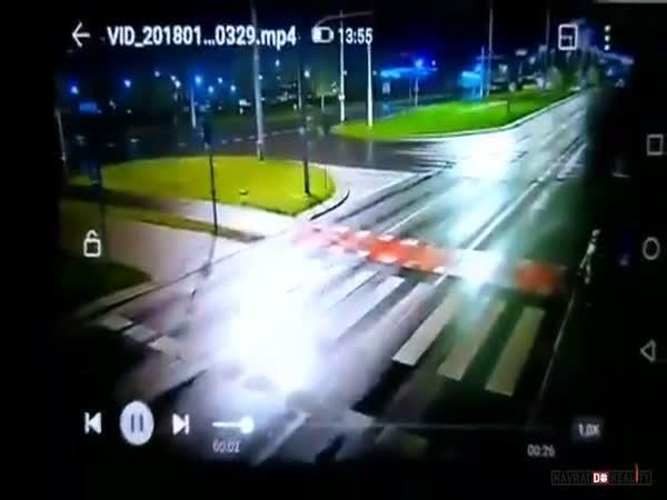 Sražení chodců na přechodu v Polsku