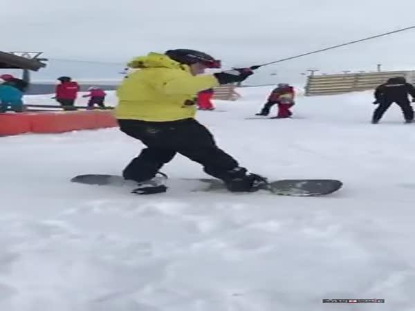 Poprvé na snowboardu