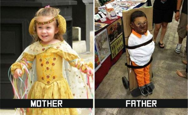 GALERIE – 10 rozdílů mezi matkou a otcem