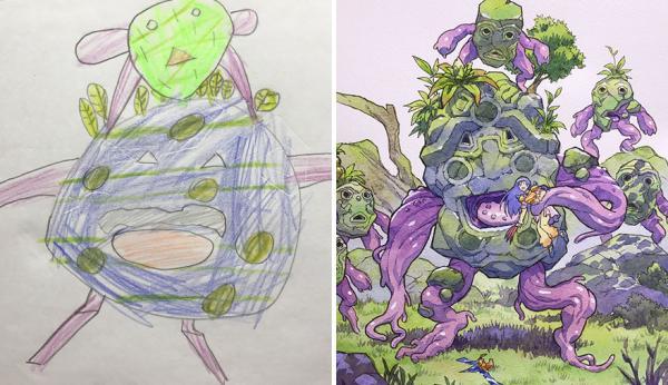 GALERIE – 12 vylepšených dětských kreseb