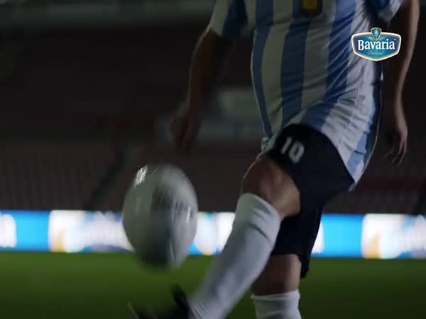 Maradona v reklamě na pivo
