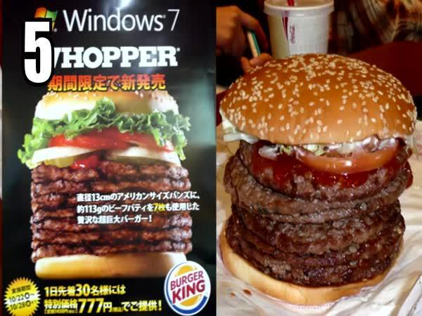 TOP 5 - Přehnaná fast food jídla