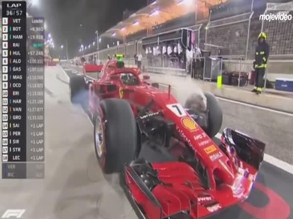 Kimi Räikkönen a zastávka v boxu