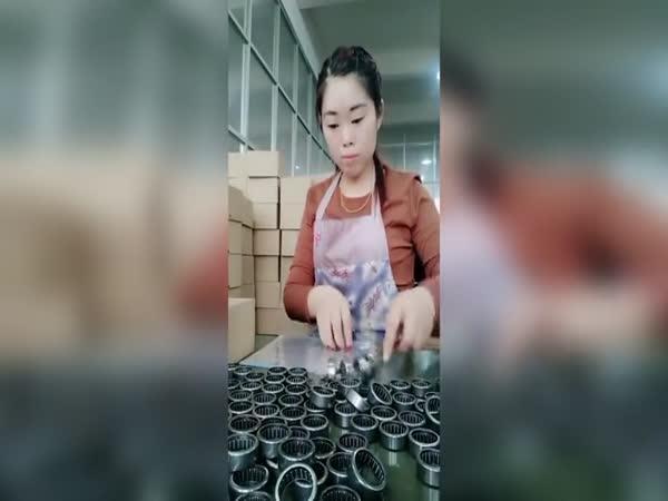 Balení ložisek v Číně