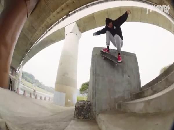Parádní triky na skateboardu