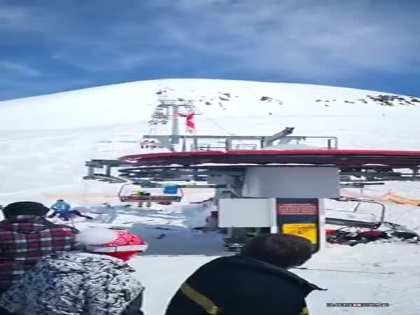 Nehoda lyžařského vleku
