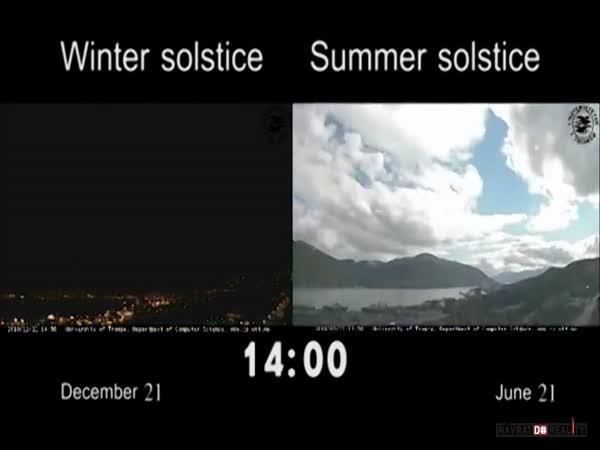 Zima vs. léto v Norsku