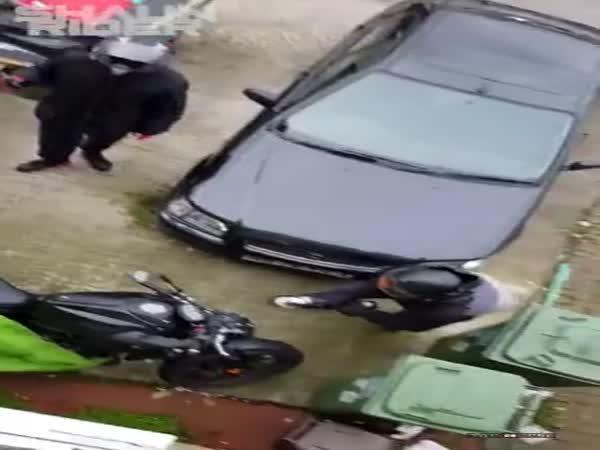 Pokus o krádež motorky