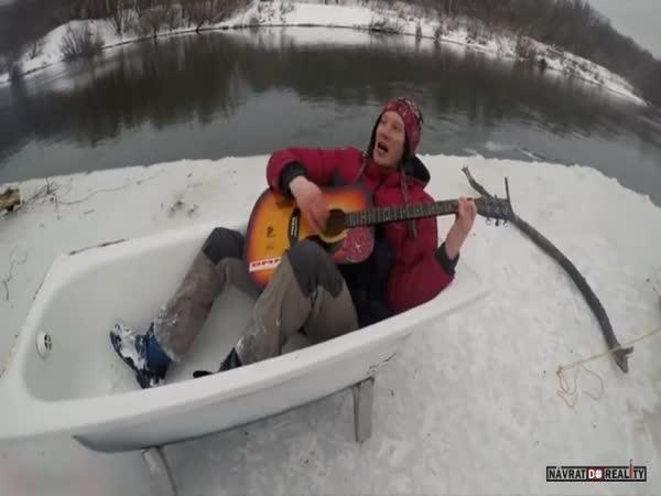 Ledový ostrov v Rusku