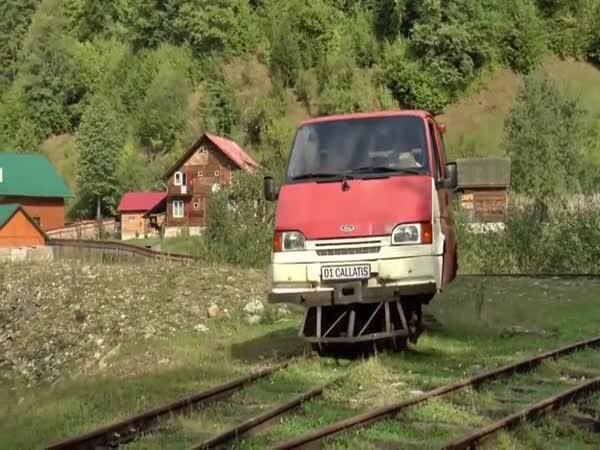 V Rumunsku jezdí na kolejích fordy