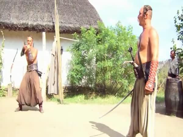 Prezentace zbraní záporožských kozáků