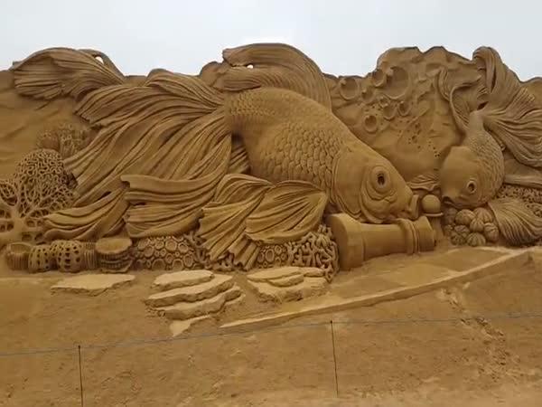 Úžasný podmořský svět z písku