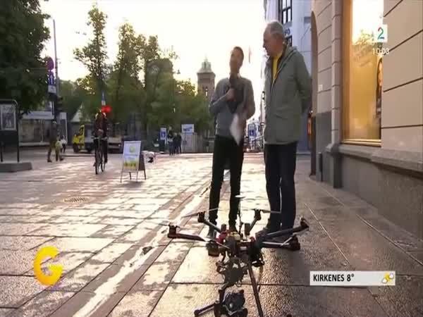 Cyklista zneškodnil quadkoptéru