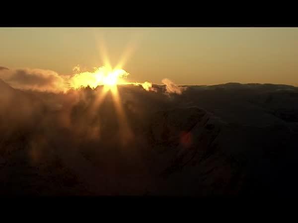 Východ slunce v Norsku