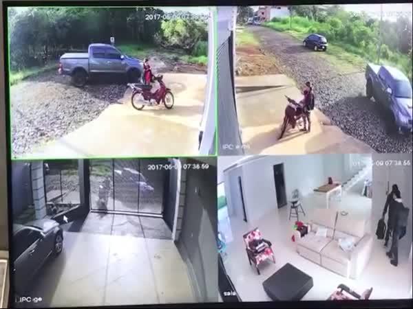 Zloděje vyrušil majitel domu