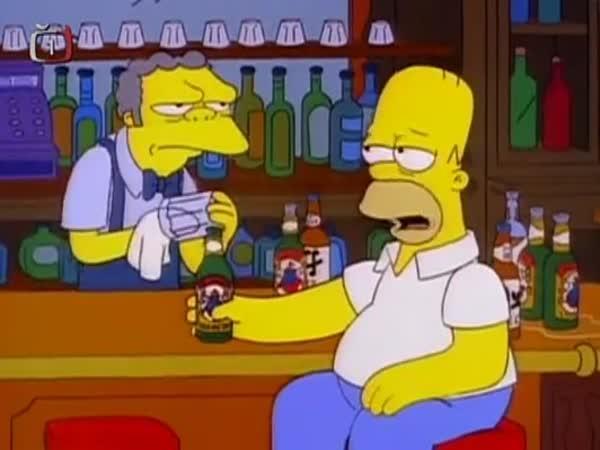 Simpsonovi - Boris Jelcin alkohol tester