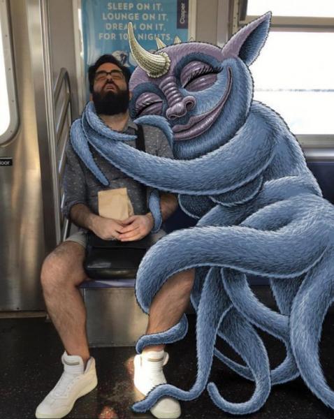GALERIE – Jsou modří a řádí v newyorském metru