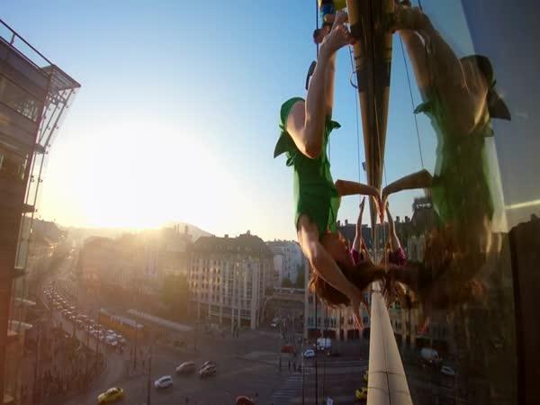 Vertikální tanec v Budapešti