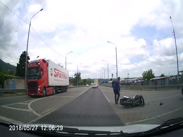 Motorkář se přepočítal