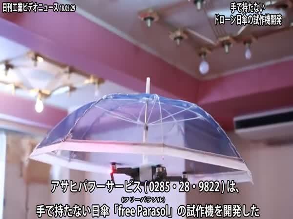 První deštník bez rukojeti