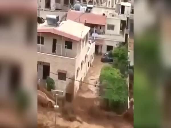 Blesková povodeň v Libanonu