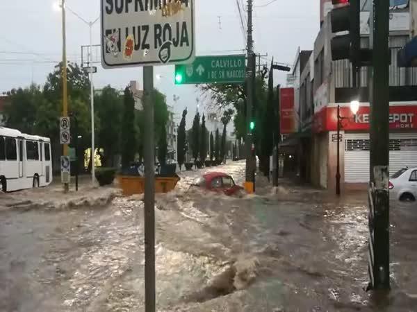 Záplava v Mexiku