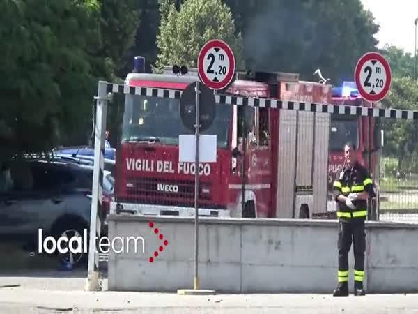 Cvičení dobrovolných hasičů