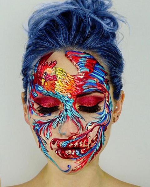 GALERIE - Proměna tváře v make-up plátno