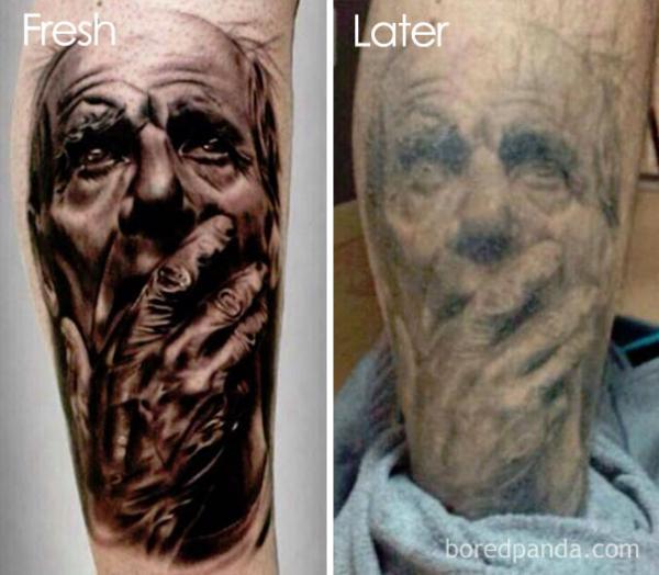 GALERIE - Jak vypadají tetování po letech