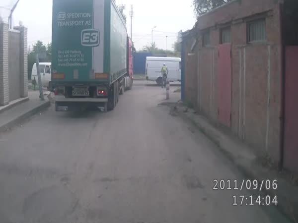 Kamion vs. cyklista