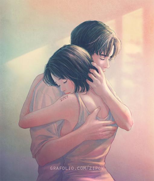 GALERIE – Ilustrace milujícího páru